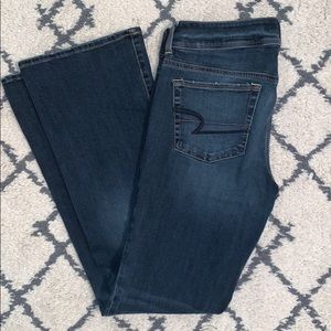 American Eagle Dark Wash Kick Boot Jeans